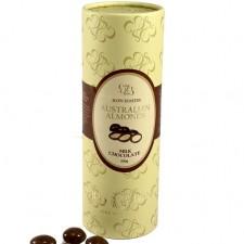 Almonds In Dark Chocolate / Paper Cylinder